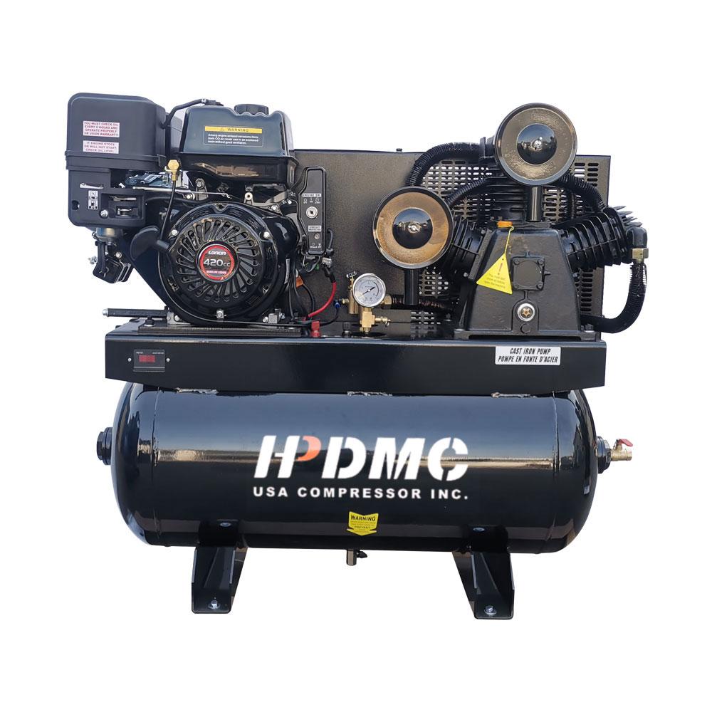 لنا خدمة-الغاز مدفوعة مكبس ضاغط الهواء 13HP مرحلتين 30 غال خزان 24cfm @ ماكس 180psi - 420CC محرك فورد F-150 شاحنة السرير
