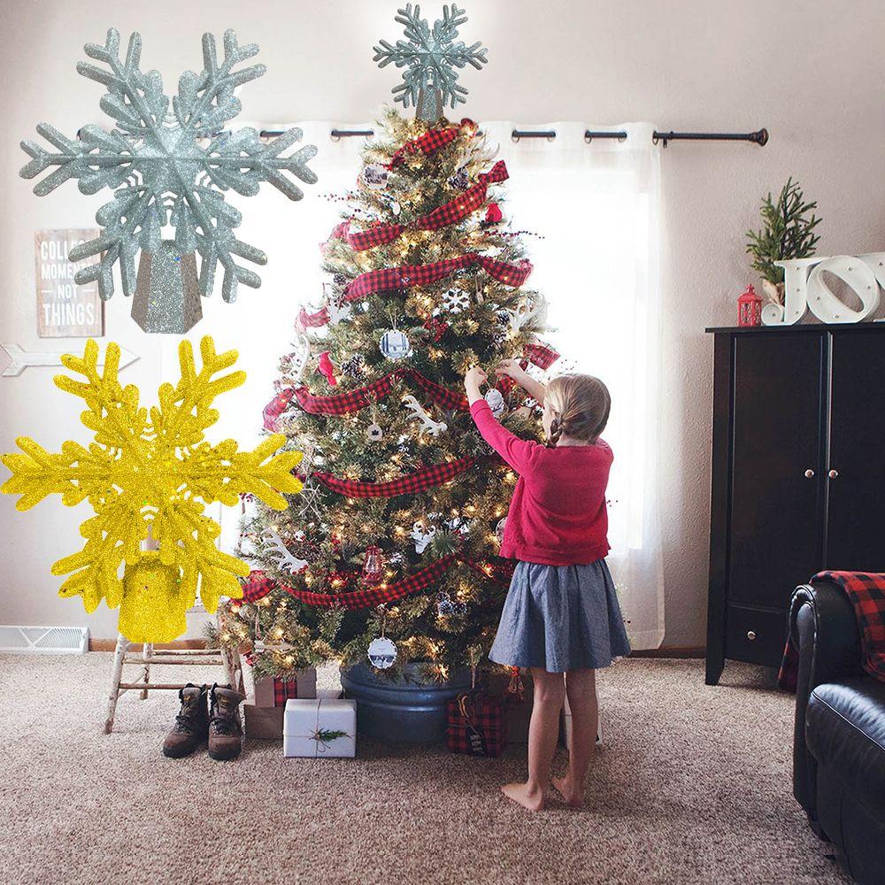 Рождественские украшения с блестками в виде снежинок, проектор в виде белых снежинок для рождественской елки, светодиодная подсветка
