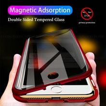Funda de teléfono magnética antiespionaje para iPhone 6, 7, 8 Plus, X, XS, XR, 11, 12 Pro Max, SE2, carcasa de Metal de doble vidrio para privacidad, 12 Pro