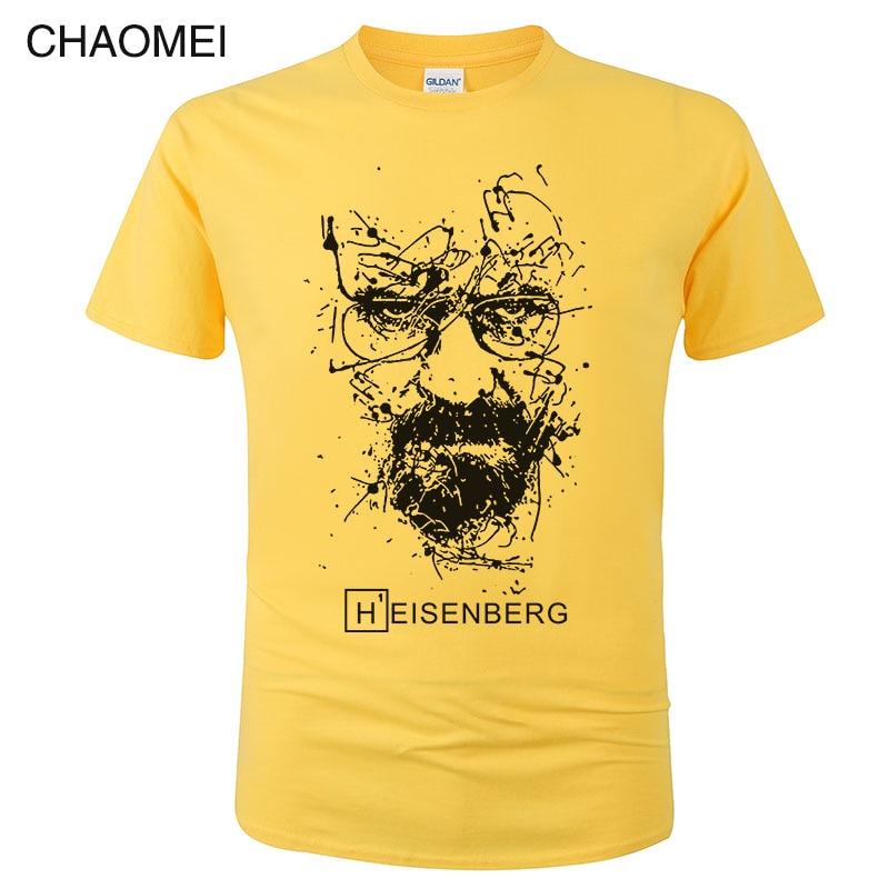 Хлопковая футболка Heisenberg для мужчин, забавная Повседневная футболка с коротким рукавом, футболка с принтом, Homme, модная крутая футболка унис...