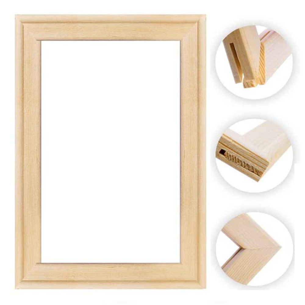 DIY wooden frame Painting By Numbers Calligraphy Modern Wall Art Picture Coloring For Home Decor