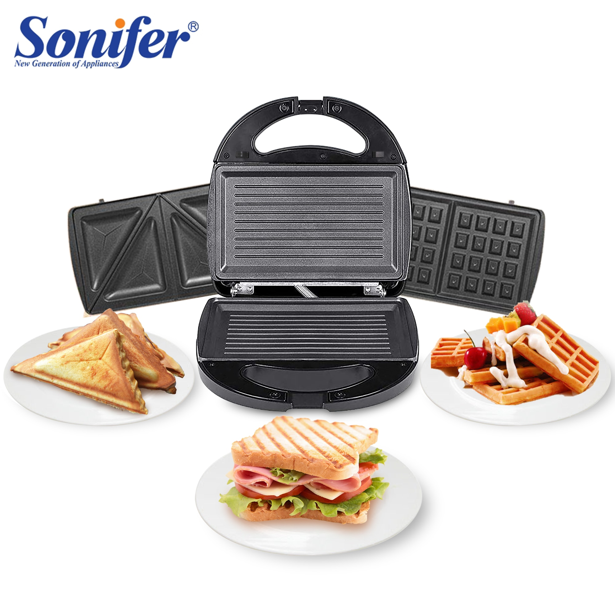 3 In 1 Electric Waffles Maker Sandwich Maker Machine Bubble Egg Cake Oven Breakfast Waffle Machine K