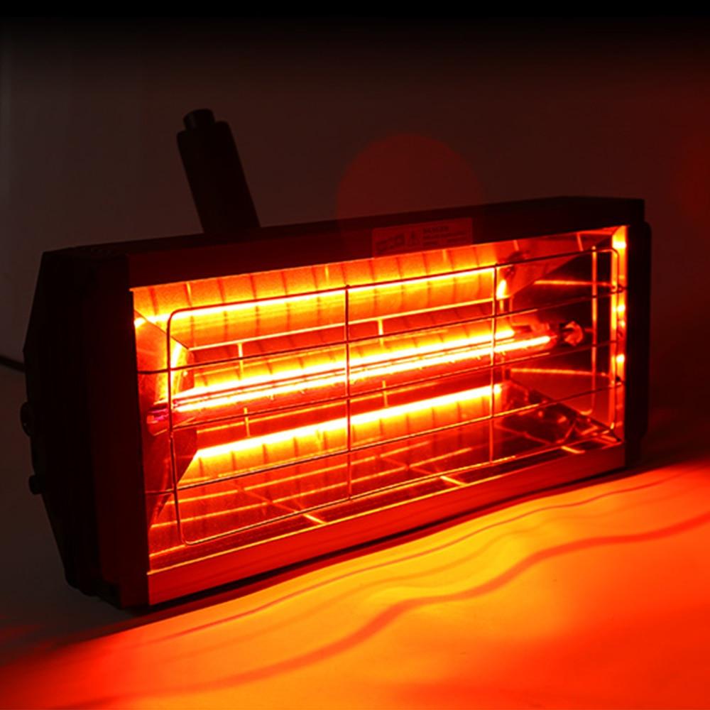 Lámparas secadoras de pintura de carrocería de 1000W lámpara de horno portátil lámpara de pintura infrarroja de onda corta hoja Meta herramientas Accesorios