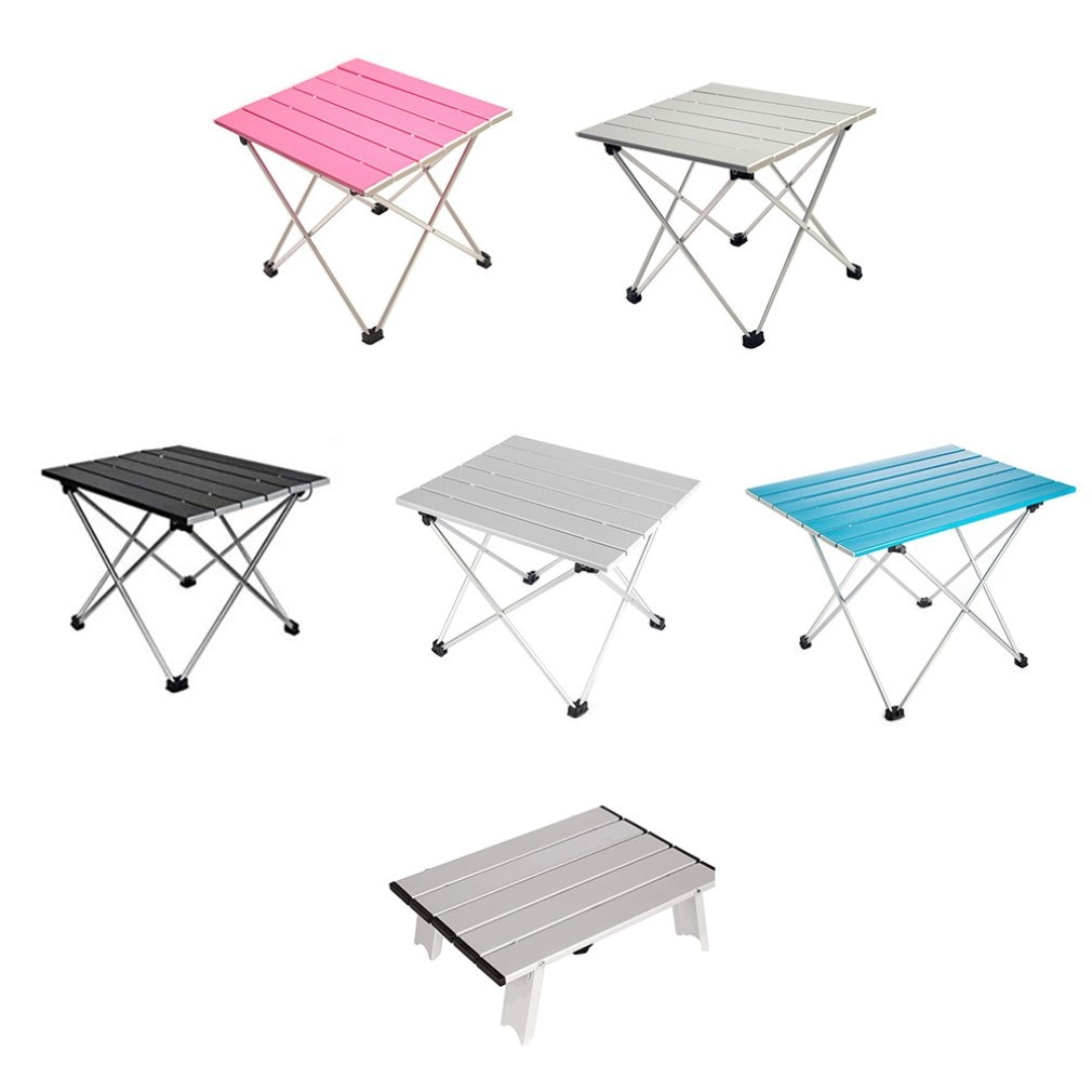 Aluminum Alloy Portable Table Foldable Folding Camping Hiking Desk Traveling Outdoor Picnic New Blue Gray Pink Black Ultra-Light enlarge