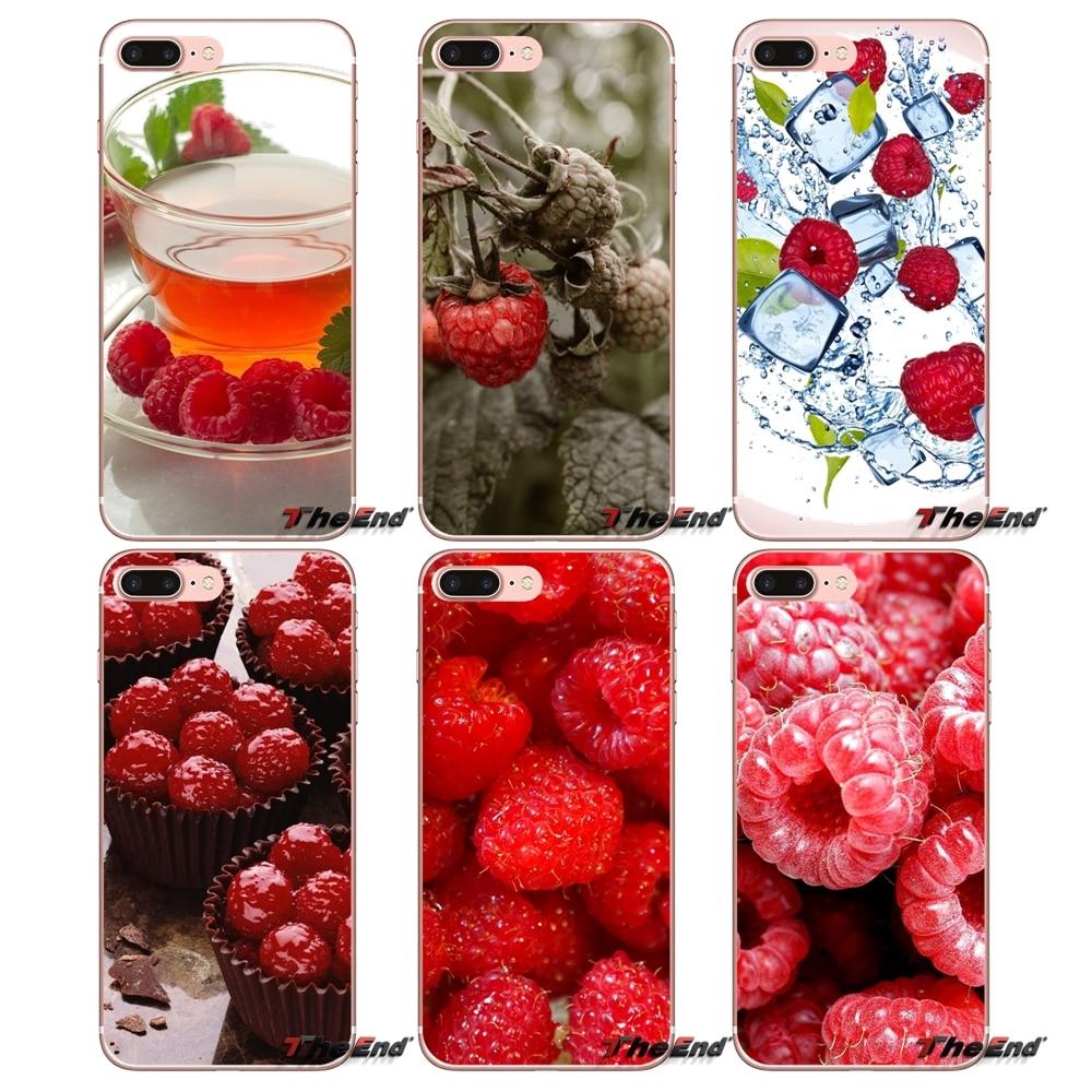 Para iPhone 4X4 4S 5 5S 5C SE 6 6 S 7 8 Plus, Samsung Galaxy J1 J3 J5 j7 A3 A5 2016 2017 suave transparente Shell caso frambuesa