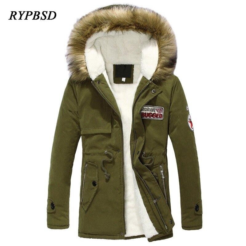 Мужская Зимняя парка 2020, модное корейское длинное пальто, теплая парка в стиле милитари с бархатным меховым воротником и капюшоном, Мужская ...