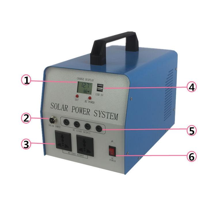 Farm household portable solar generator complete set of battery panel kit use lighting 12V LCD TV mobile phone charging MP3 etc.