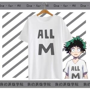 Anime Boku no Hero Academia Cosplay T-shirt Summer men T Shirt women Polyester Short Sleeve Tshirt Tops Tee