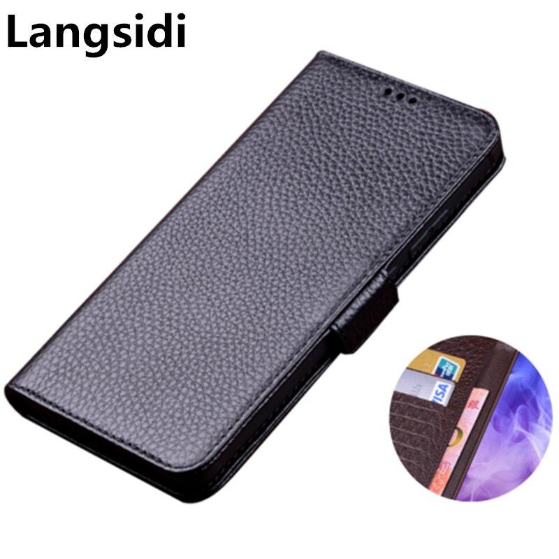 Cuero genuino de negocios lado hebilla magnética cartera funda tarjetero de teléfono soporte para Umidigi F2/Umidigi F1/Umidigi potencia 3 teléfono bolsa
