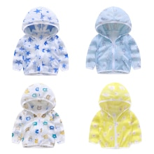 Four-piece children's sun protection clothing summer jacket boys and girls baby breathable sun prote