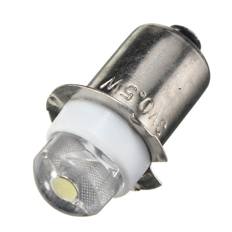 Сменная Лампа для фонарика, светодиодная лампа для фокуса P13. 5S PR2, 0,5 Вт, 60-100 люмен, 3 в, 4,5 В, 6 в, теплый/чистый белый свет