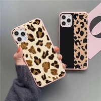leopard print fashion luxury phone case pink candy color for iphone 11 12 mini pro xs max 8 7 6 6s plus x se 2020 xr
