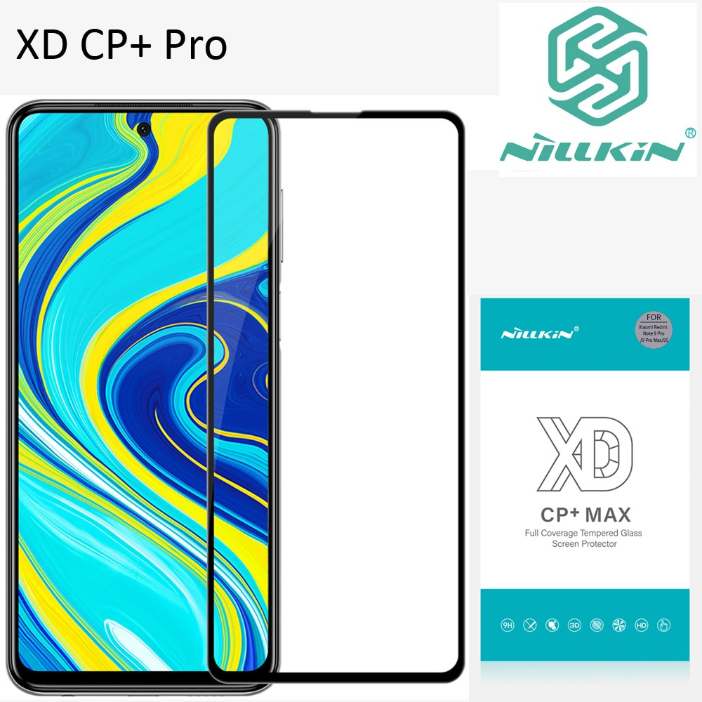 Nillkin XD CP+ Max Tempered Glass For Xiaomi Redmi Note 9S Note 9 Pro Max Protective oleophobic Full Screen glue