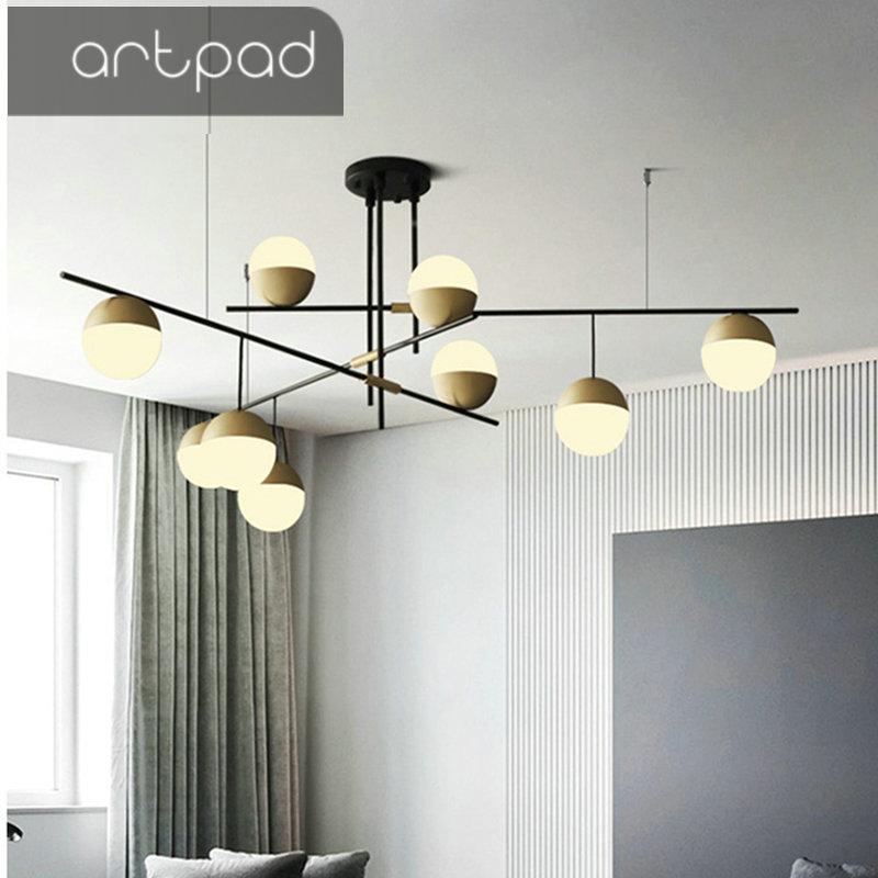 Artpad إيطاليا الشمال مصباح قلادة كروية مستديرة الحد الأدنى ضوء بار المطبخ غرفة الطعام غرفة المعيشة الفاخرة الإبداعية قلادة أضواء