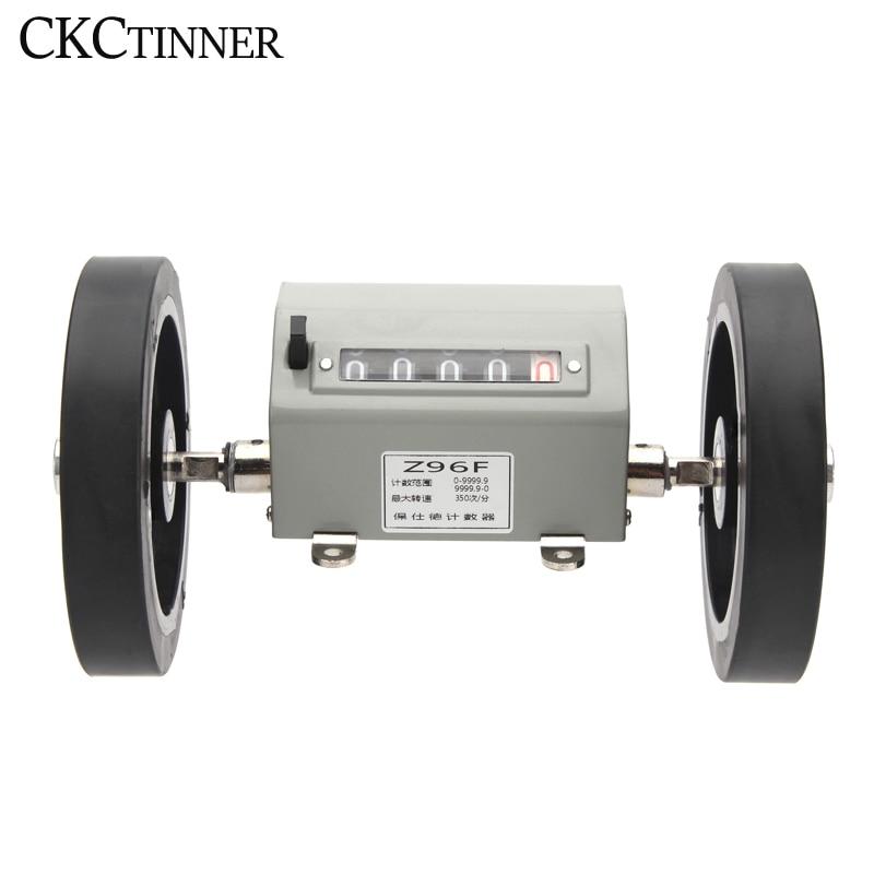 Z96-F عداد أمتار الطول الميكانيكي مسافة مزدوجة المتداول عجلة 0-9999.9 ميكانيكية مدفوعة مسجل/قياس الطول