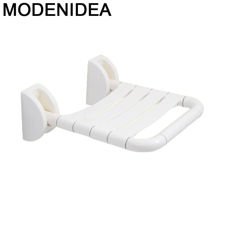 Taburete De baño Plegable para el hogar, Silla reclinable para bañera, con...