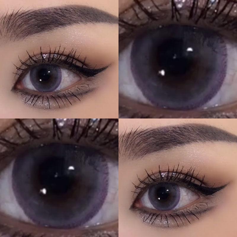 Контактные линзы Mill Creek 2 шт./пара, цвет ed, черные, фиолетовые, коричневые контактные линзы для темных глаз, ежегодная красота, линзы натурального цвета