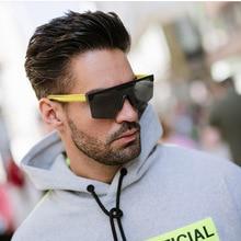 2020 Cool Fashion Square Style Shield Top Men's Sunglasses Ins Popular Design Brand Sunglasses Sungl
