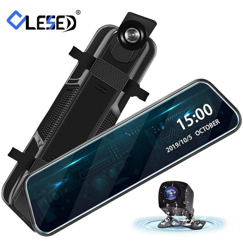 10 Polegada carro dvr espelho fluxo de mídia dvr câmera ips tela sensível ao toque fhd traço cam registrador vídeo dvrs dashcam