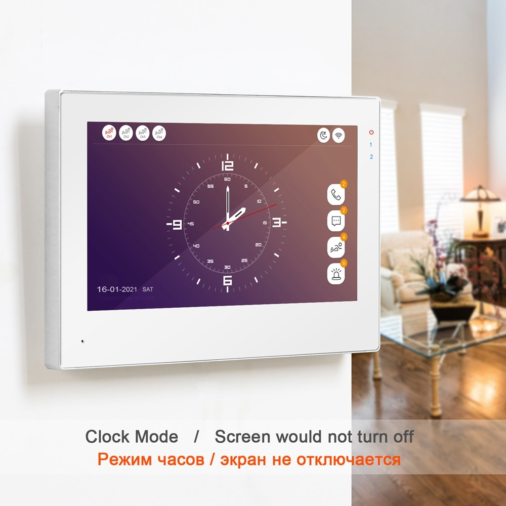 TUYA Smart Intercom WiFi Video Intercom for Home Touch Screen Monitor 7 Inch Display Supports 1080P Doorbell Outdoor enlarge