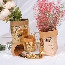 Organisateur de cuisine lavable Kraft papier sac plante fleurs Pots multifonction sac de rangement conteneurs décoration de la maison