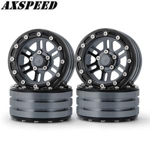 """AXSPEED 1,9 """"колесные диски с дистанционным управлением, металлический замок, колесные втулки для 1:10 RC Crawler Axial SCX10, обновленные аксессуары"""