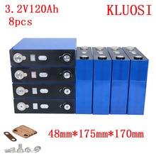 8 Stuks 3.2V 120Ah LiFePO4 Lange Lifecycles 3500 Keer Max 3C Voor Zonne-energie Opslag 24V 120Ah Batterij pack