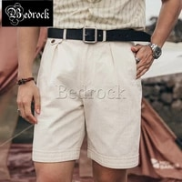rt vintage army shorts summer hbt herringbone casual shorts long staple cotton shorts primary white loose cargo shorts