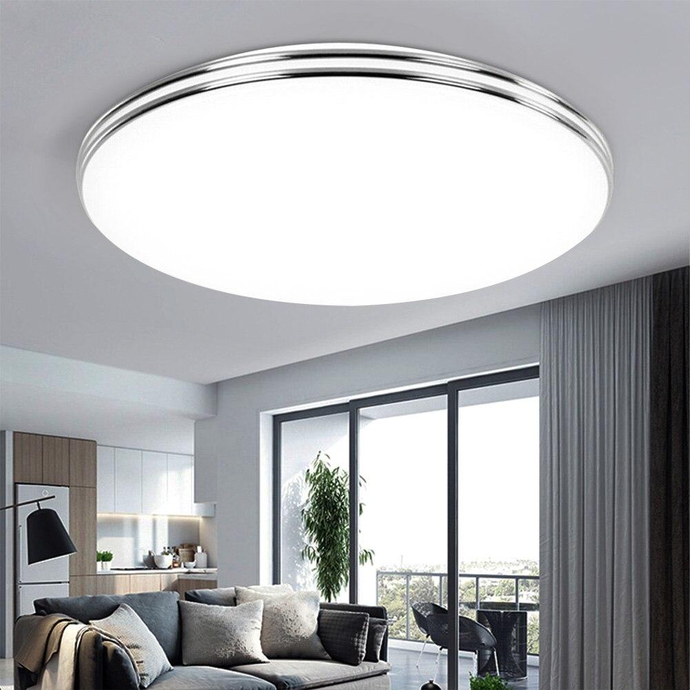 LED ضوء السقف 72 واط 36 واط أسفل ضوء سطح جبل مصباح لوحة التيار المتناوب 220 فولت 3 ألوان تغيير لمبة عصرية للمنزل إضاءة ديكوريّة