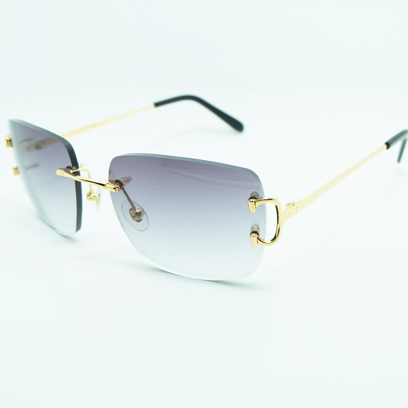 Großen Platz Sonnenbrille Männer Vintage Luxus Sonne Glas Designer Marke Frauen Sonnenbrille Draht Carter Shades Brillen Sommer Dekoration