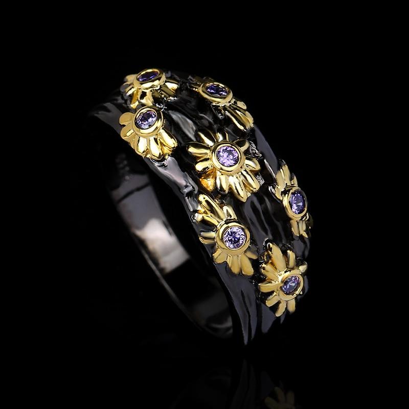 Изысканное-женское-кольцо-из-серебра-925-пробы-креативное-Золотое-кольцо-простое-ювелирное-изделие-из-черного-золота-Женское-кольцо