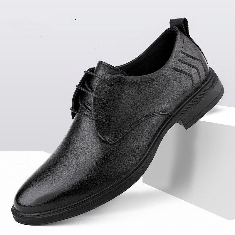 Summer Autumn Mens Business Casual Shoes designer shoes men high quality Genuine Leather British retro men shoes cowhide winter