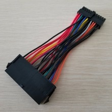 1 pçs atx psu padrão 24pin fêmea para mini 24 p macho adaptador de alimentação interna cabo conversor para dell 780 980 760 960 pc