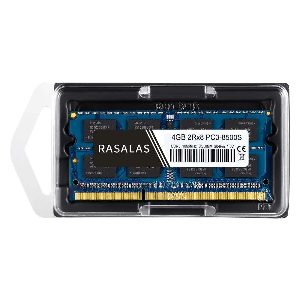 Rasalas 8GB 4GB DDR3 1600Mhz 1333Mhz PC3L-12800S SO-DIMM 1,35 V 1,5 V Notebook RAM 204Pin Laptop speicher sodimm Blau