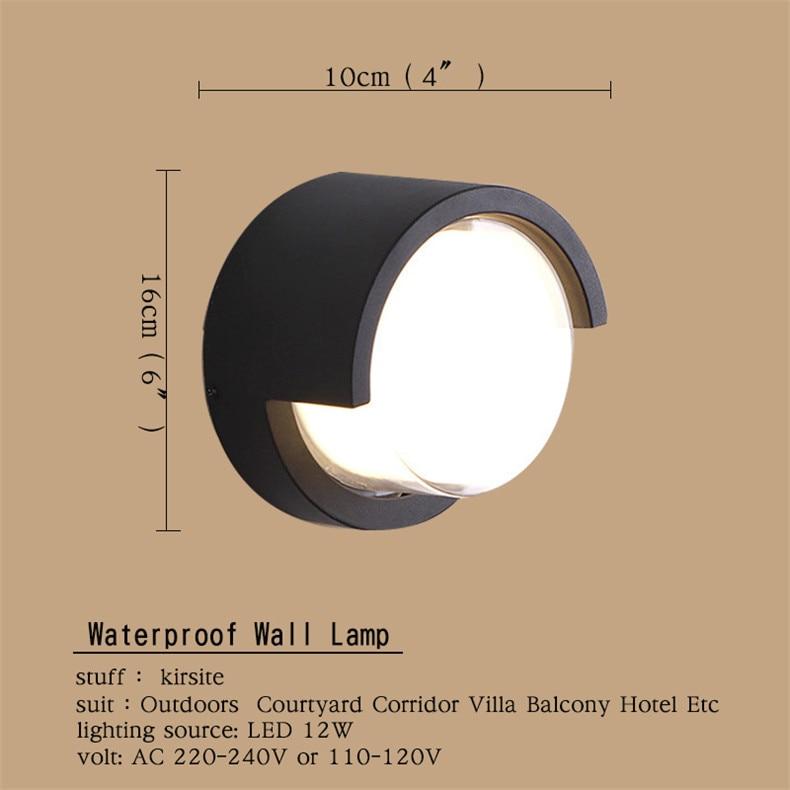 FAIRY Outdoor Wall LampsWaterproof Contemporary Creative Decorative For Patio PorchCourtyard  Corridor  VillaDuplex enlarge