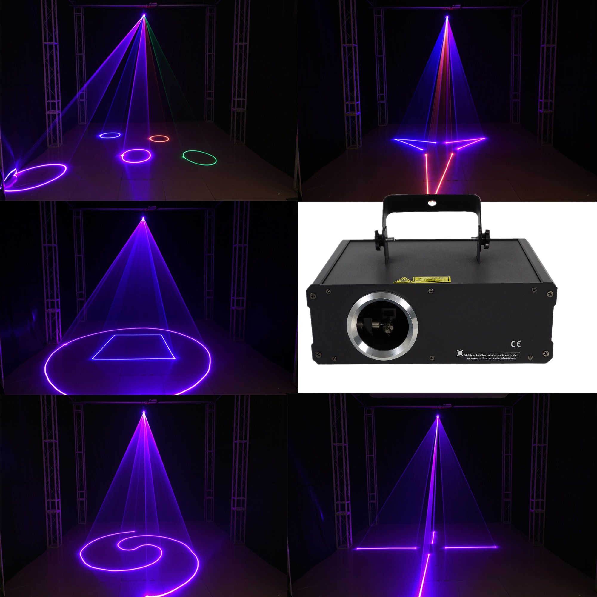 2D ثلاثية الأبعاد RGB ليزر الرسوم المتحركة الخفيفة 500mW 1 واط العارض ليزر DMX ضوء شعاع المسح DJ عرض الحفلات المرحلة الإضاءة
