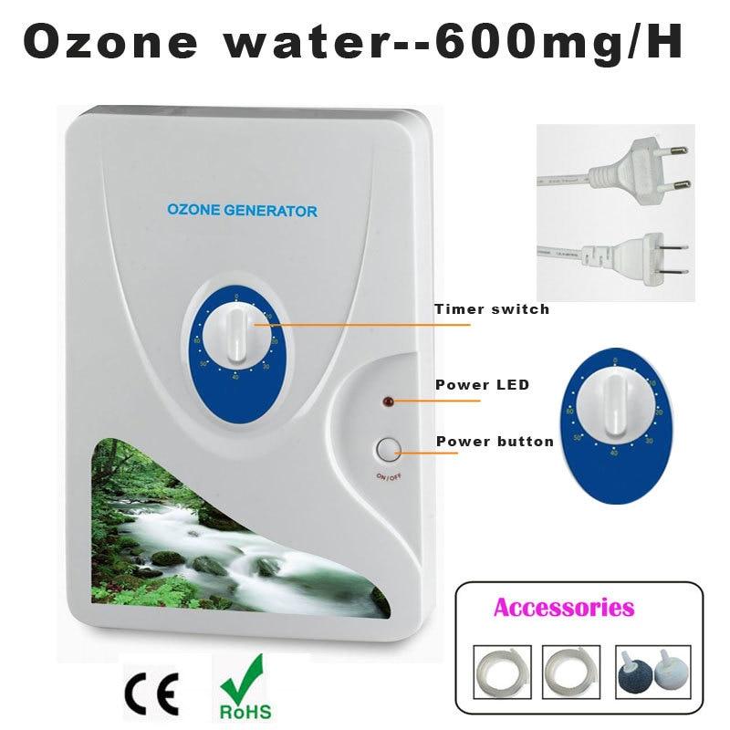 600mg Ozone Generator Air Purifier Ozonizer Ozonizador Ozone Ozono Portable Oxygen Concentrator Wate