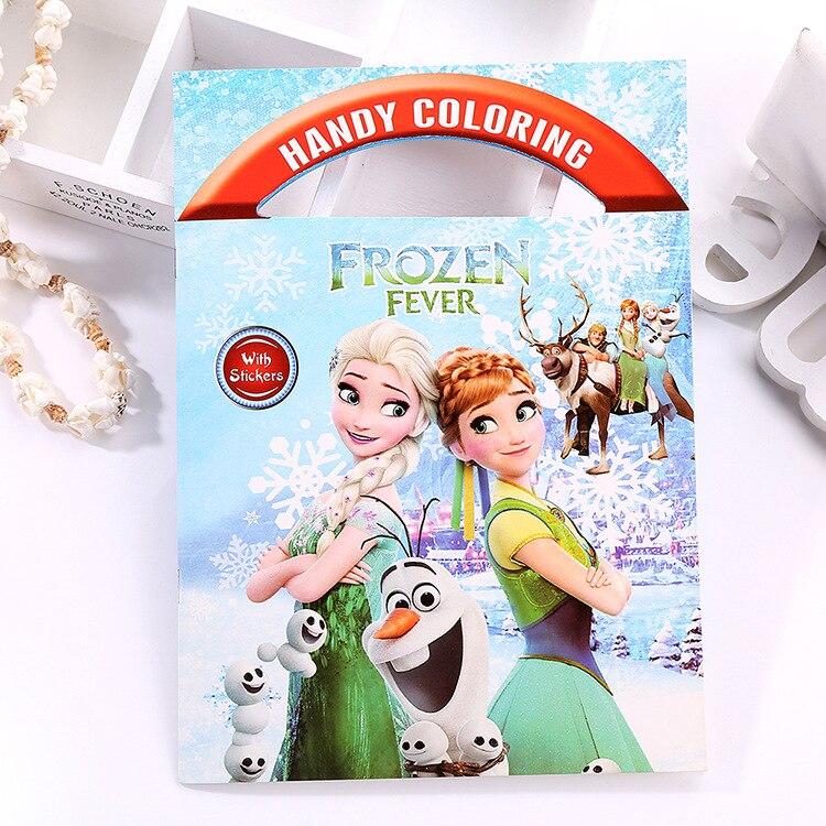 Livro de coloração portátil da disney, desenhos animados, spiderman, winnie, graffiti, menino, menina, imagem interessante, livro