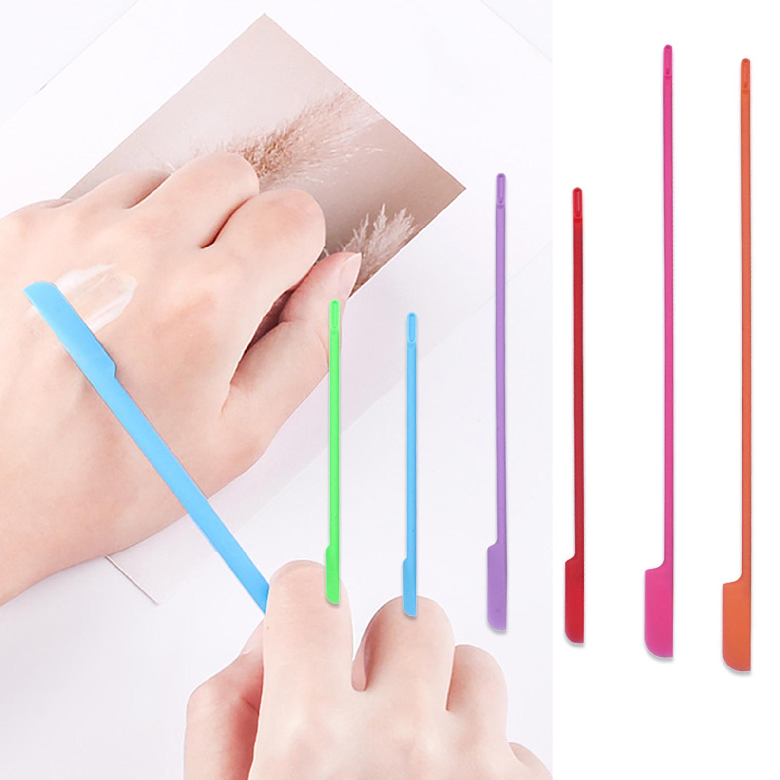 6 pçs mini kit de ferramentas de maquiagem espátula cosmética descartável raspador de silicone flexível reutilizável beleza cozinha segura última gota espátula