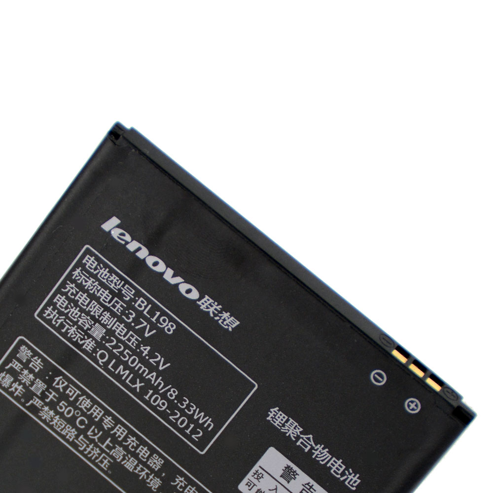 20pcs/lot Original Battery BL198 For Lenovo A859 A860E S890 K860 K860I A678T S880I A850 A830 Mobile Phone Batteria 2250mAh enlarge