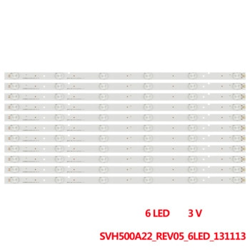 50set LED strip for HD500DF-B57/S0 50K23DG 50K22DG 50H5G 50K20DG 50H3 NS-50D550NA15 LBM500P0601-R-1 SVH500A22_REV05_6LED