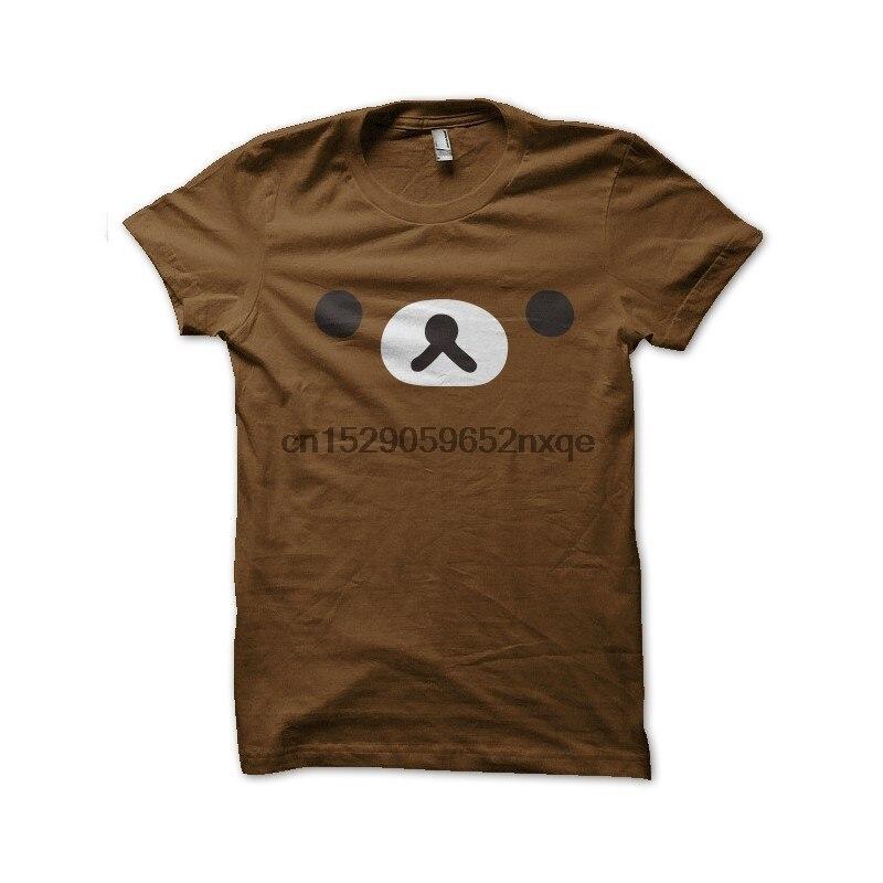 Camiseta para hombre, camiseta marrón, camisetas rilakkuma, camiseta para mujer