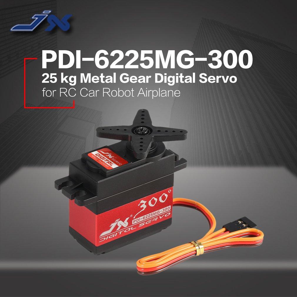JX PDI-6225MG-300 Metal Gear Digital Servo 25KG Metal Gear Digital Standard Servo for RC Car Robot Airplane Aircraft Drone DIY enlarge