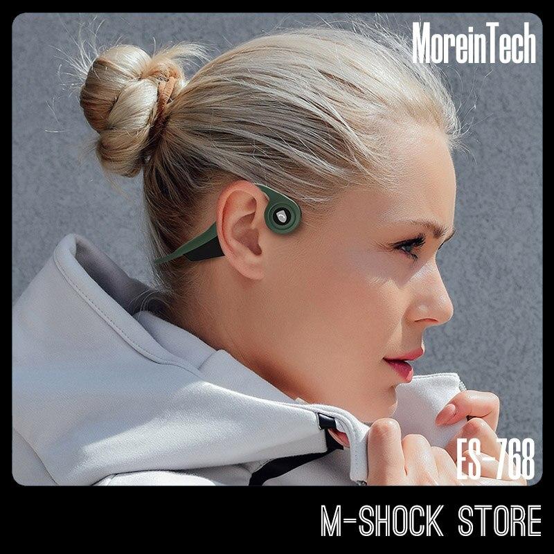 ES-768 Moreintech, auriculares de conducción ósea, auriculares inalámbricos Bluetooth, micrófono deportivo para correr al aire libre, auriculares 5,0