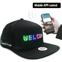 luminous led cap diy message and picture bluetooth control fashion apparel accessories party decor glowing baseball cap