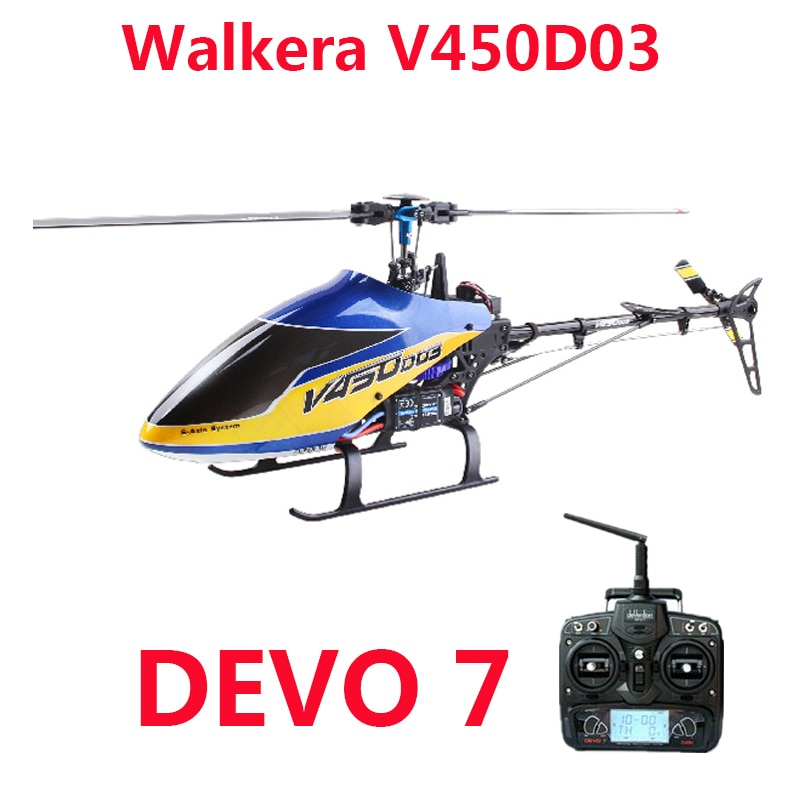 Walkera V450D03 Helicopter 3D Fly 6-Axis Stabilization System Single Blade Professional 6CH Remote C