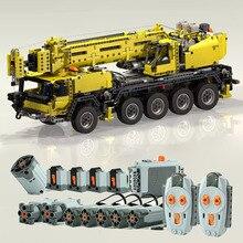 Technic Motor Power Mobile Crane Mk II Car 42009 Model Building Blocks Bricks Toys Kids gifts Compatible lepines  MOC 0853