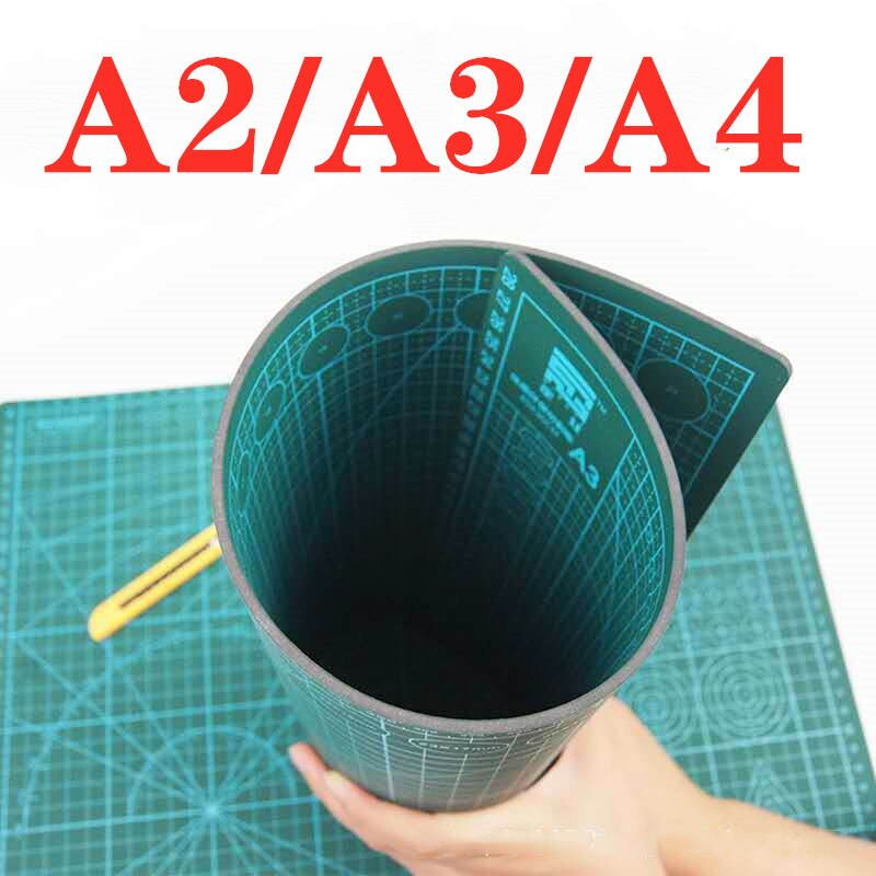 A5 a4 a3 pvc selfhealing tapete de corte de retalhos de dupla face almofada de corte para diy faca de costura de couro placa de papel underlay