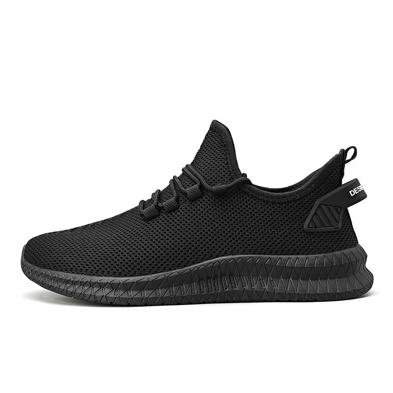 New Sport Running Men Shoes Mesh Breathable Men Sneakers Cushioning Casual Black Shoes Lightweight Z