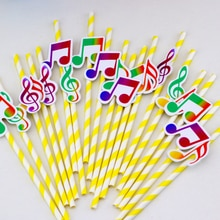 music Theme Birthday Party Paper Straws Party Supplies Favor Box Birthday Party Decorations Supplies
